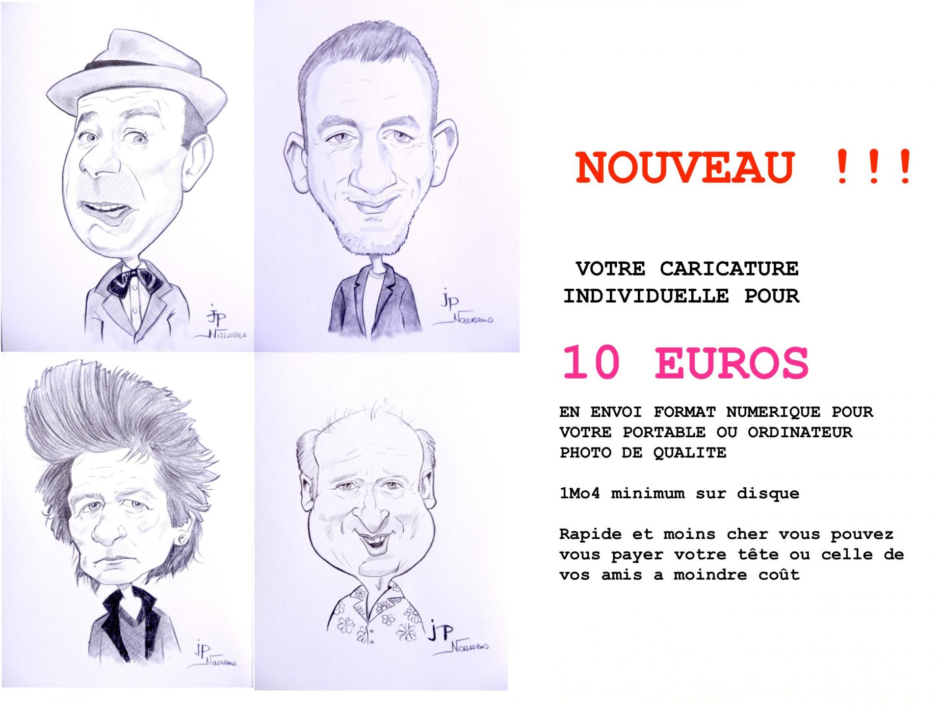 Caricature a 10 euros