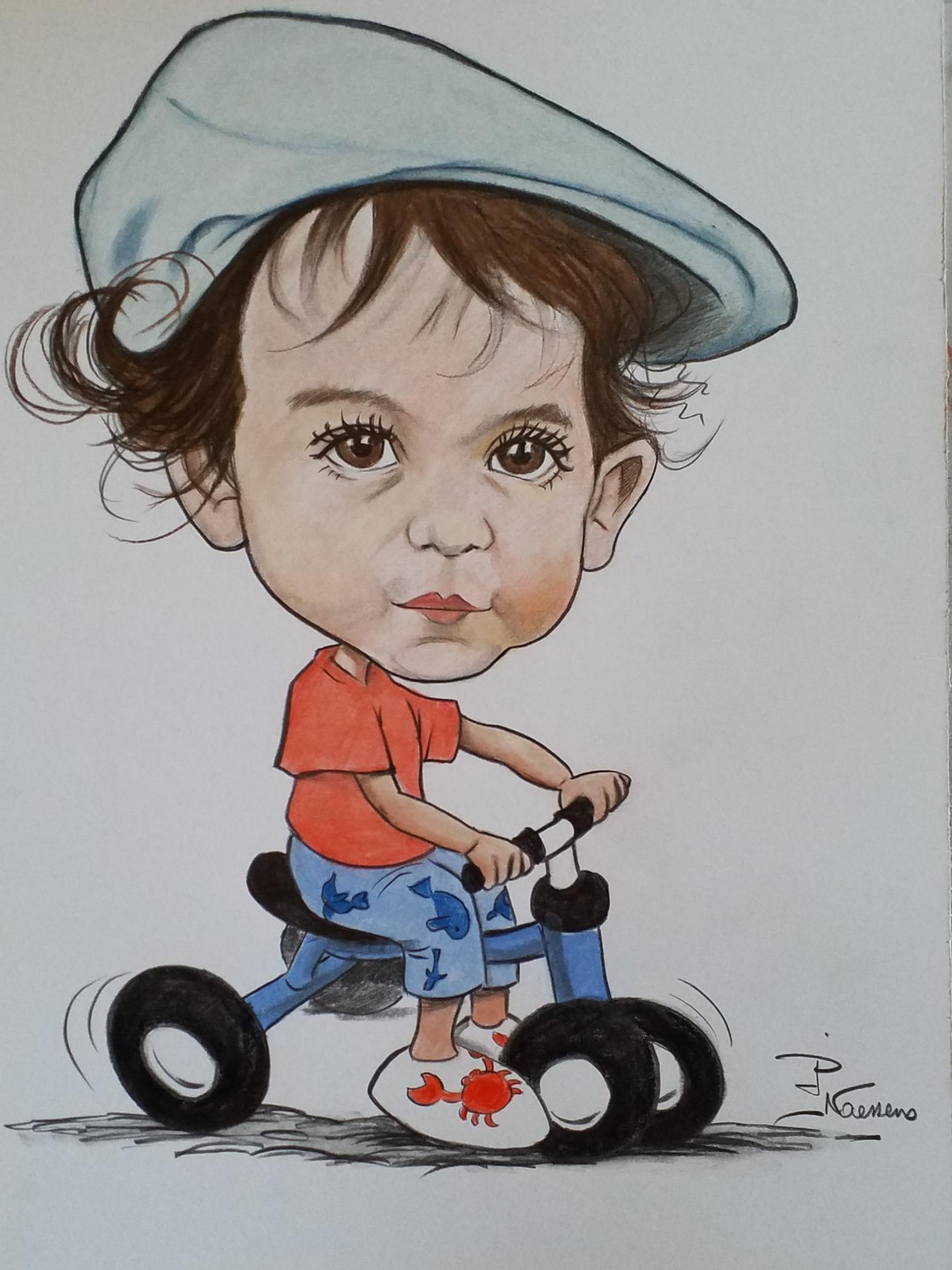 Caricature couleurs enfants