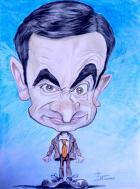 Caricature de mr bean alias rowan atkison