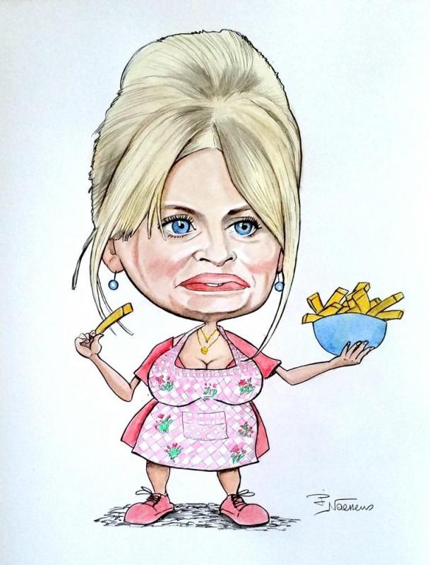 Caricature isabelle nanty
