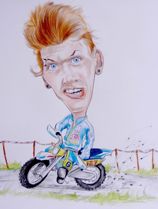Caricature motard