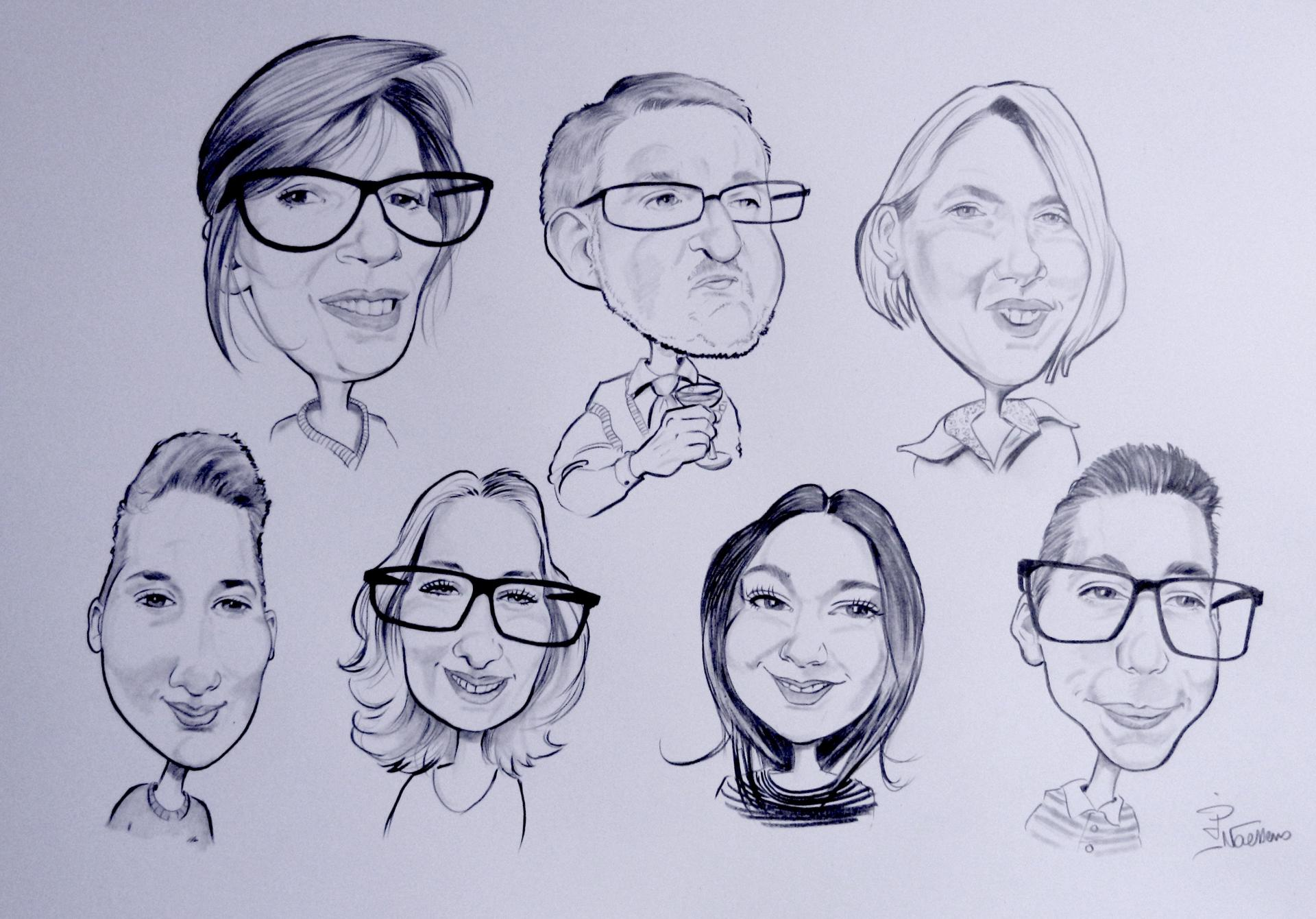 Caricatures familliale