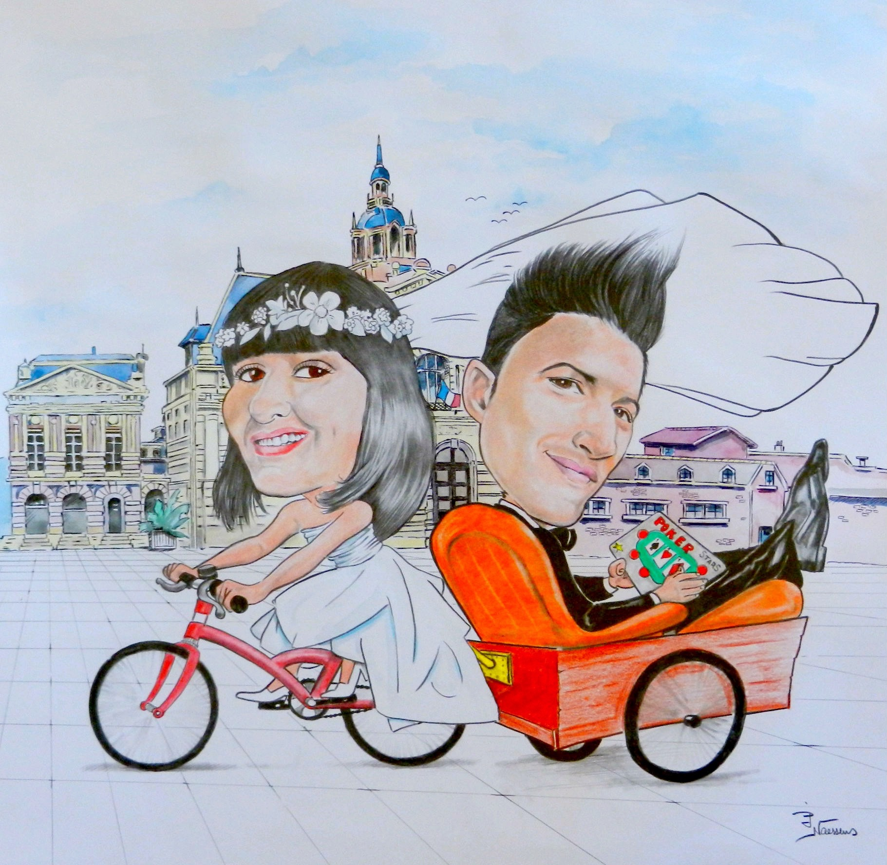 Caricatures mariage