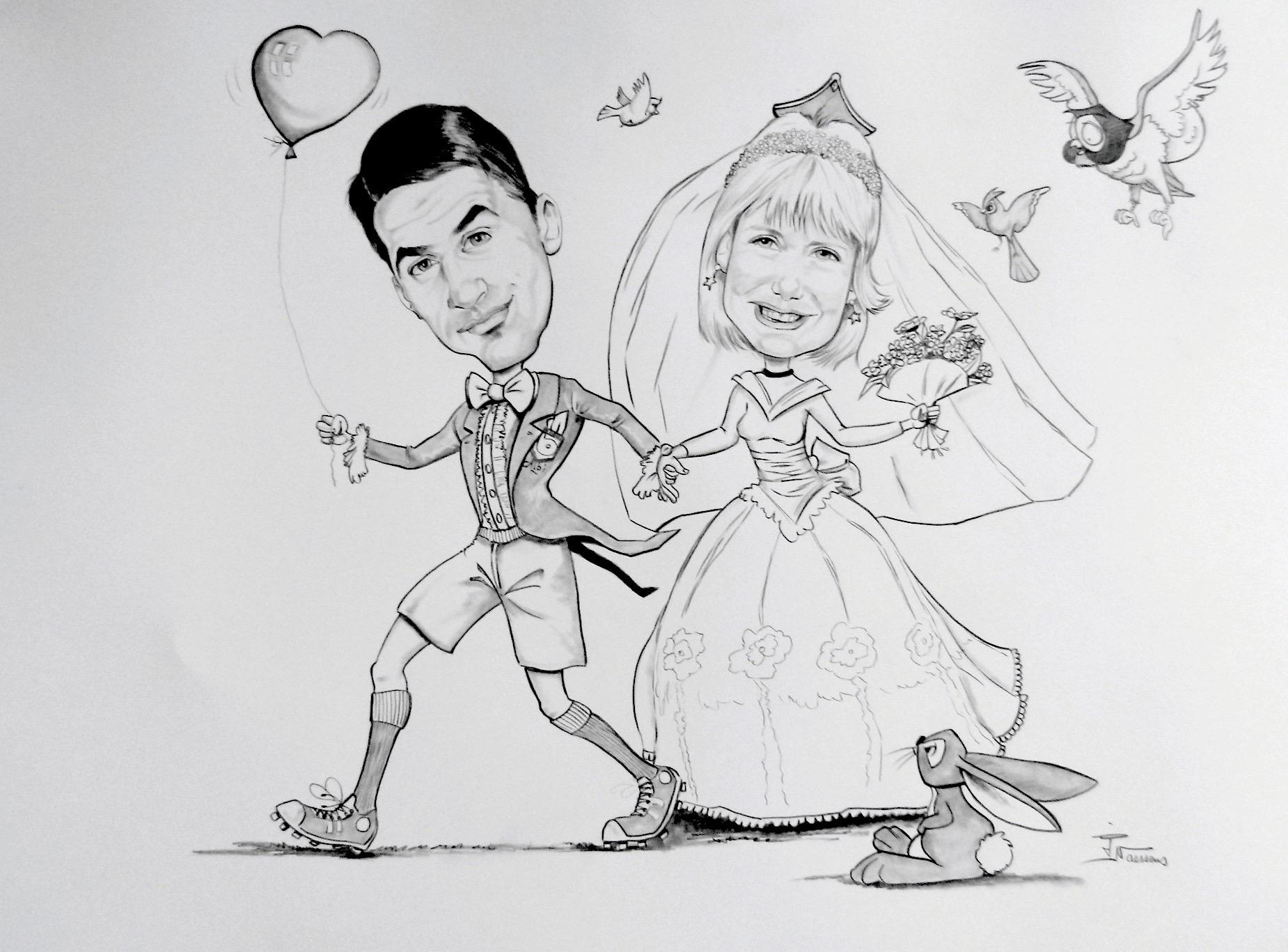 Dessin mariage arbitre 1